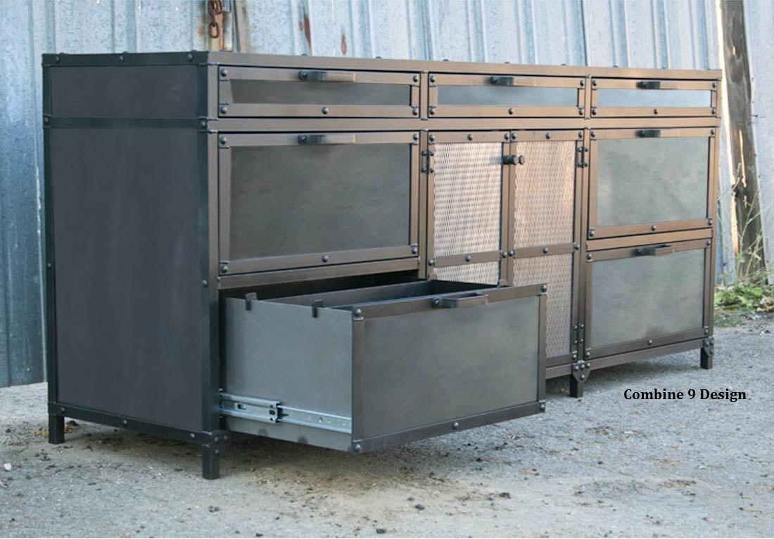 Industrial File Cabinet Vintage Industrial Filing Cabinet