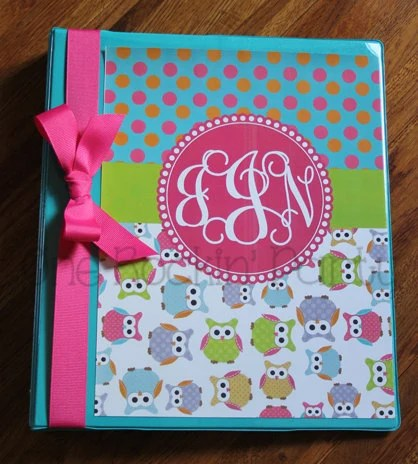 Items Similar To Personalized Binder Cover Insert Owl