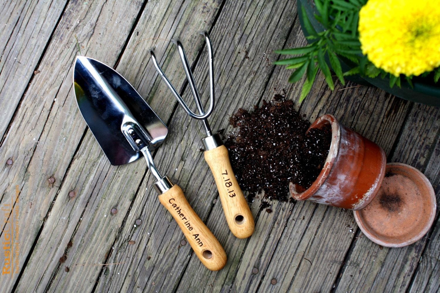 Garden Tools Personalized Garden Tool Set Hand Trowel Short Shovel