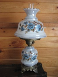 SALE Vintage Accurate Casting Company Blue Hurricane Lamp