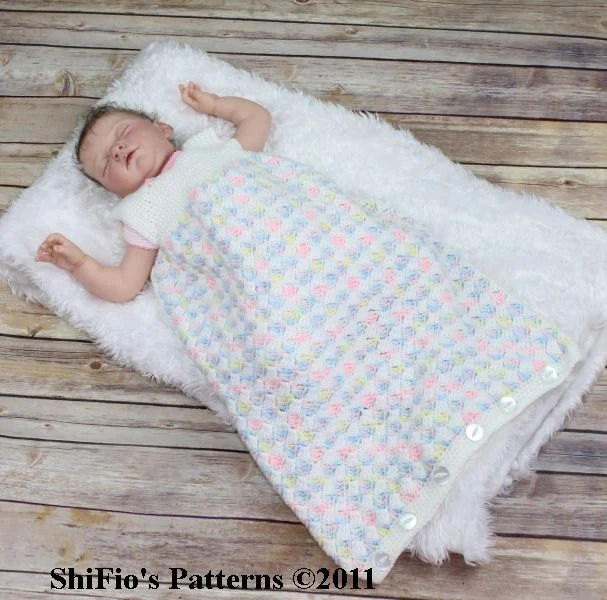 Baby Sleep Sack Uk Baby Crochet Pattern Cocoon 2 Sleeping Bag Crochet Pattern 3