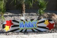 skateboard deck wall art handpainted skateboard | Etsy