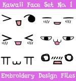 Kawaii Face Machine Embroidery