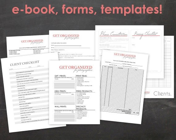 DesignOrganized! Get Organized FOR PHOTOGRAPHERS Photography - business forms templates
