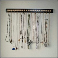 Gold Square Necklace Holder Hanger Organizer Wall