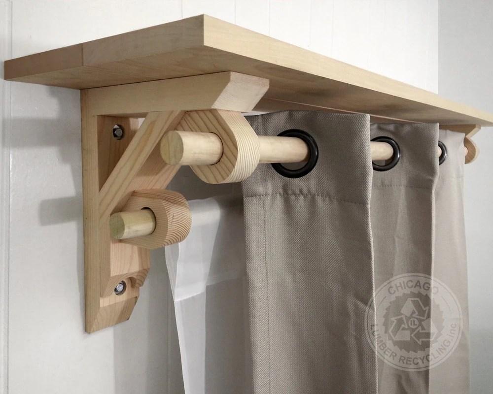 Curtain Rod Shelf Wood Curtain Menzilperdenet