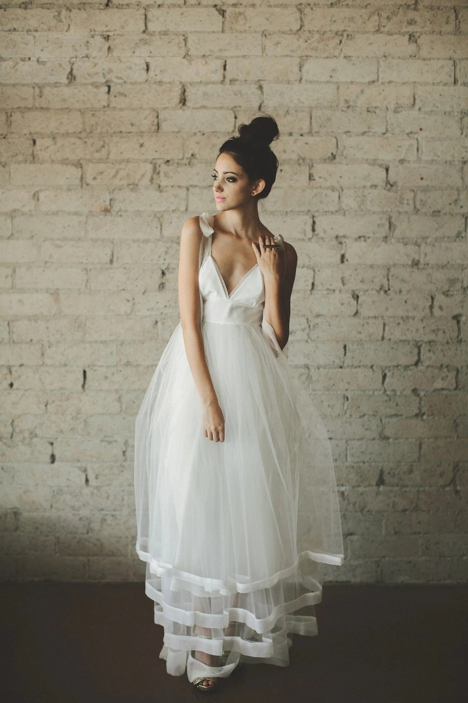 deep v neck floor length a line tiered etsy wedding dresses zoom
