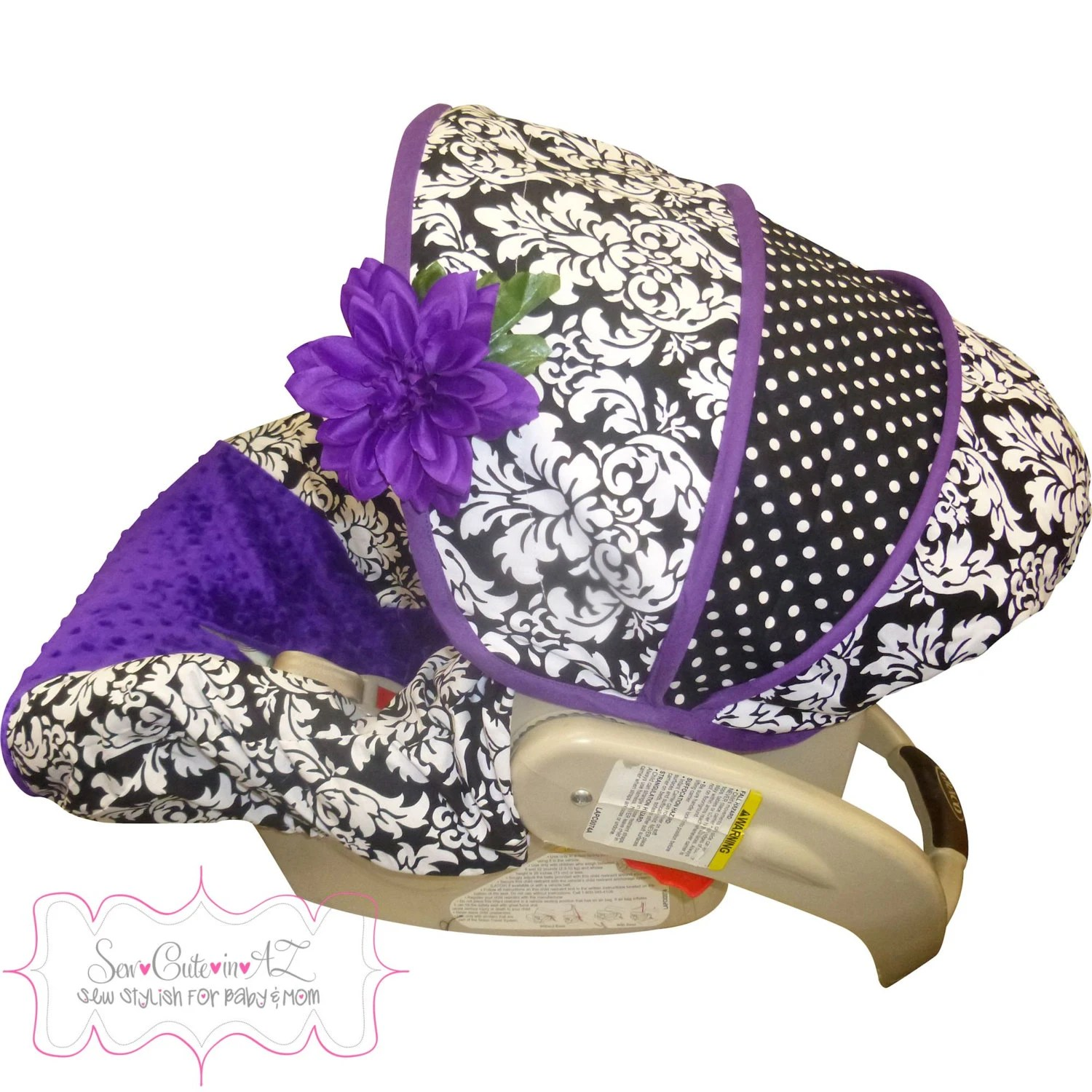Babies Car Seat Covers Damask With Purple Car Seat Cover Infant To Toddler By