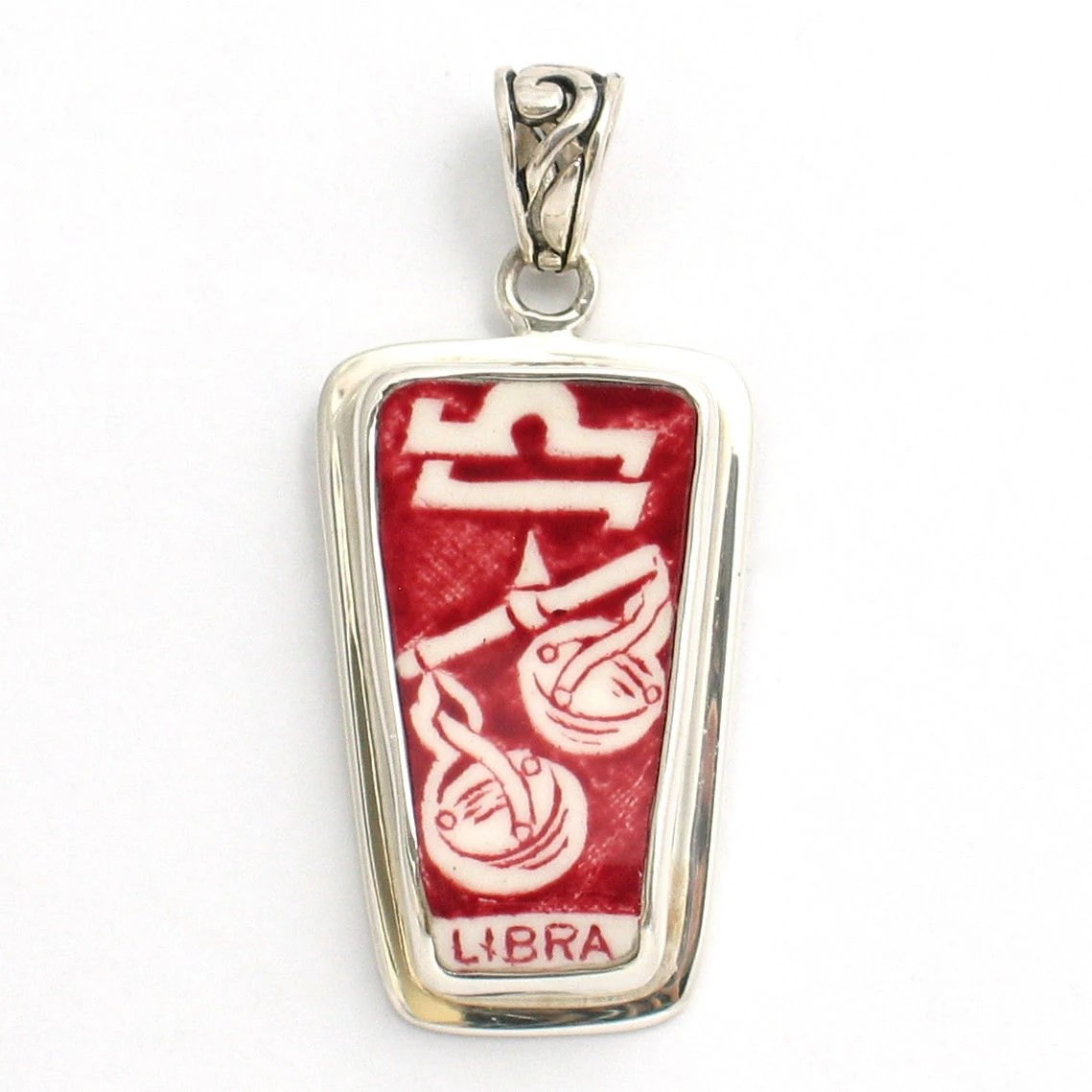 Red Libra Broken China Alfred Meakin Red Libra Zodiac By Vbellejewelry