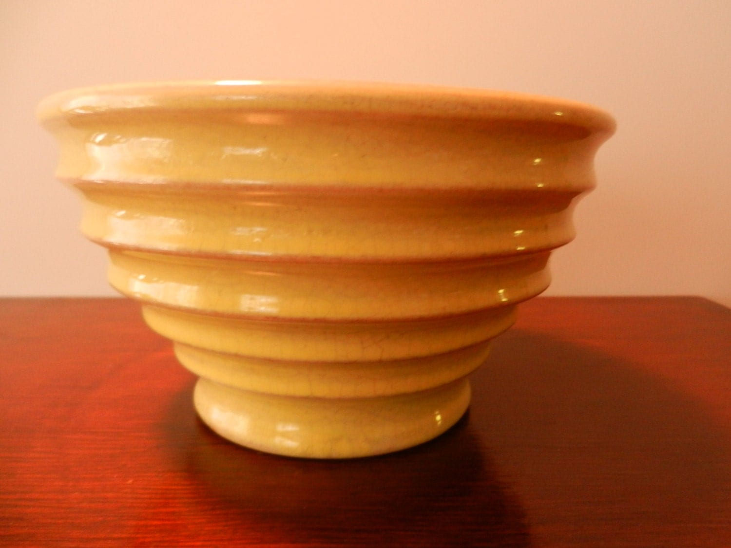 Vintage Bauer Ringware Yellow Mixing Bowl C 193039s By