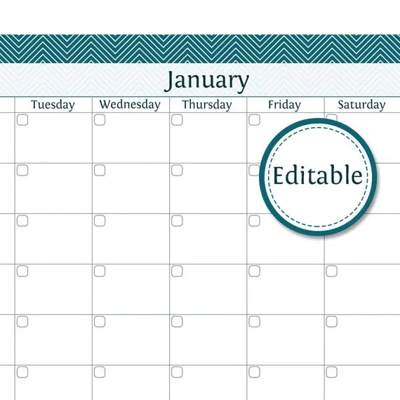 monthly calendar editable - Funfpandroid