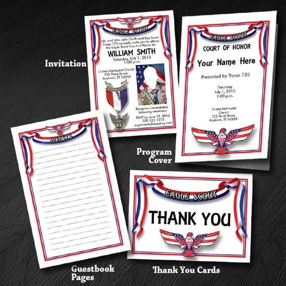 Custom Eagle Scout Court Of Honor Set 9 Invitation Program