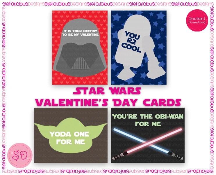 Star Wars Printable Valentines Day Cards Valentine\u0027s Day Wikii