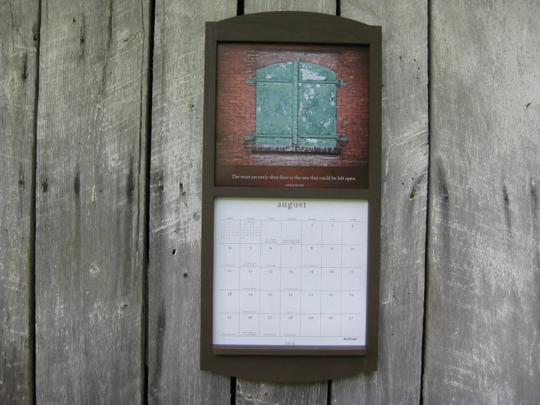 Handmade 12 X 24 Calendar Wood Frame Holder In By