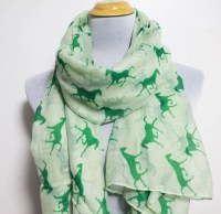 Mint Green Horse Scarf Horses Scarves Fall Scarf Animal