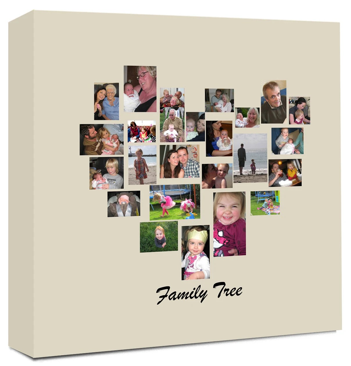 Fotocollage Hochzeit Family Tree Heart Shaped Photo Collage On Canvas Ready To