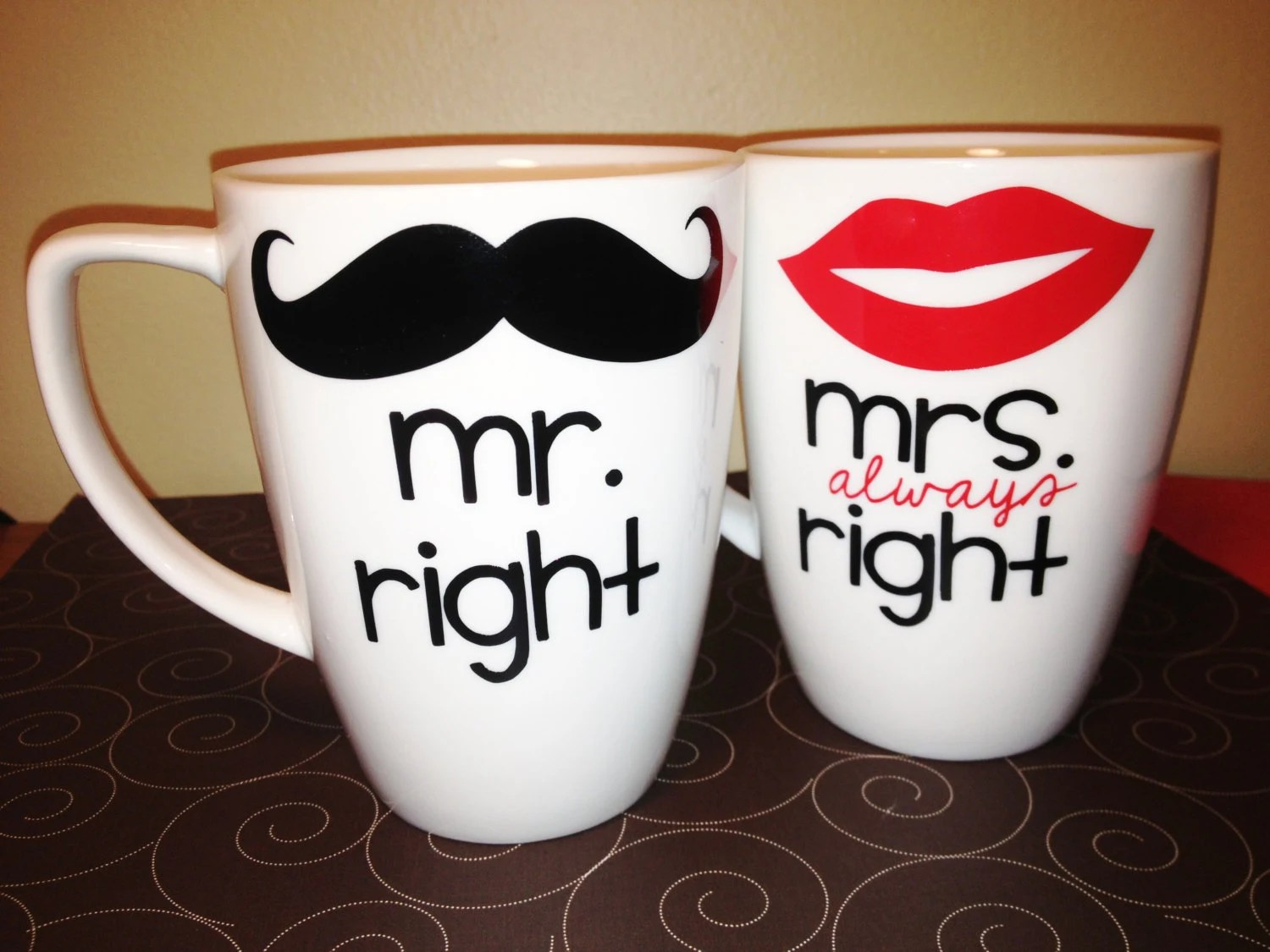 Mr Right Mrs Always Right Bettwäsche Mr Right And Mrs Always Right Coffee Mugs By