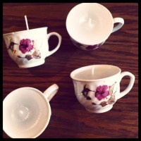 Mini tea cup candles