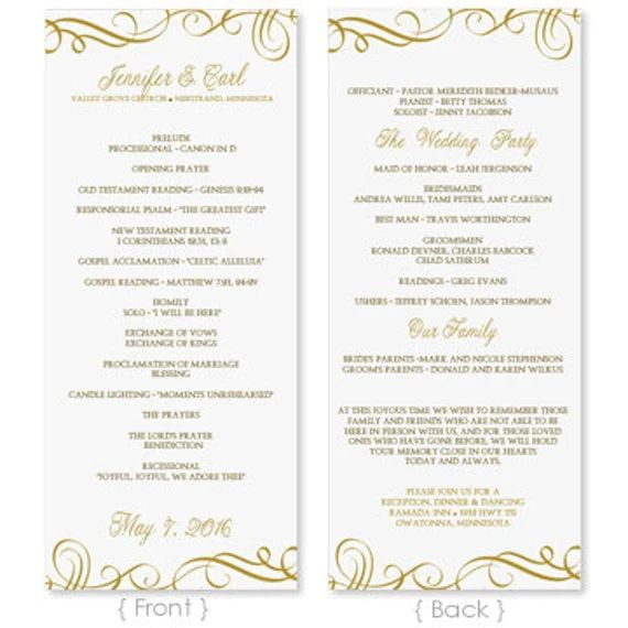 downloadable wedding program templates free