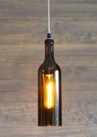 Upcycled Wine Bottle Pendant Light