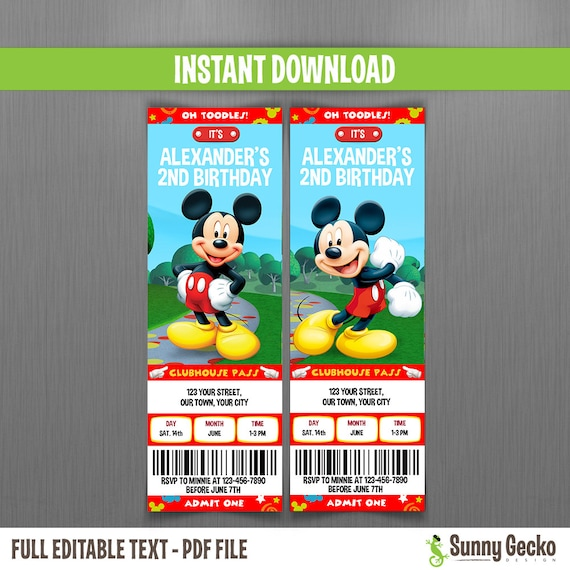 downloadable mickey mouse invitations
