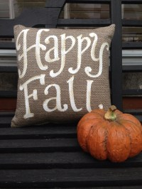 Happy Fall pillow October autumn thanksgiving outdoor