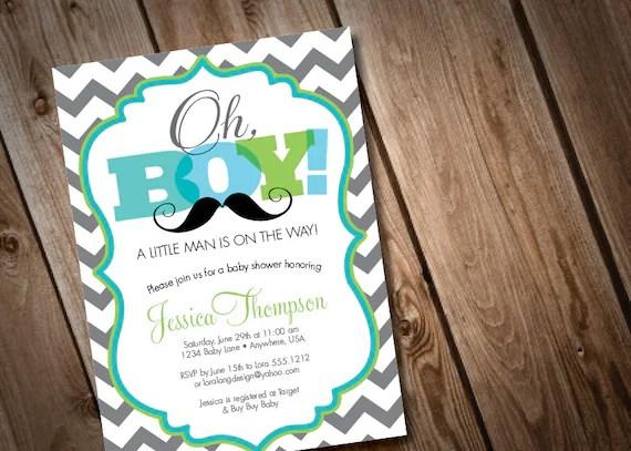 Cozy printable digital oh boy mustache baby shower invitation little printable digital oh boy mustache baby shower invitation little man invitation chevron filmwisefo