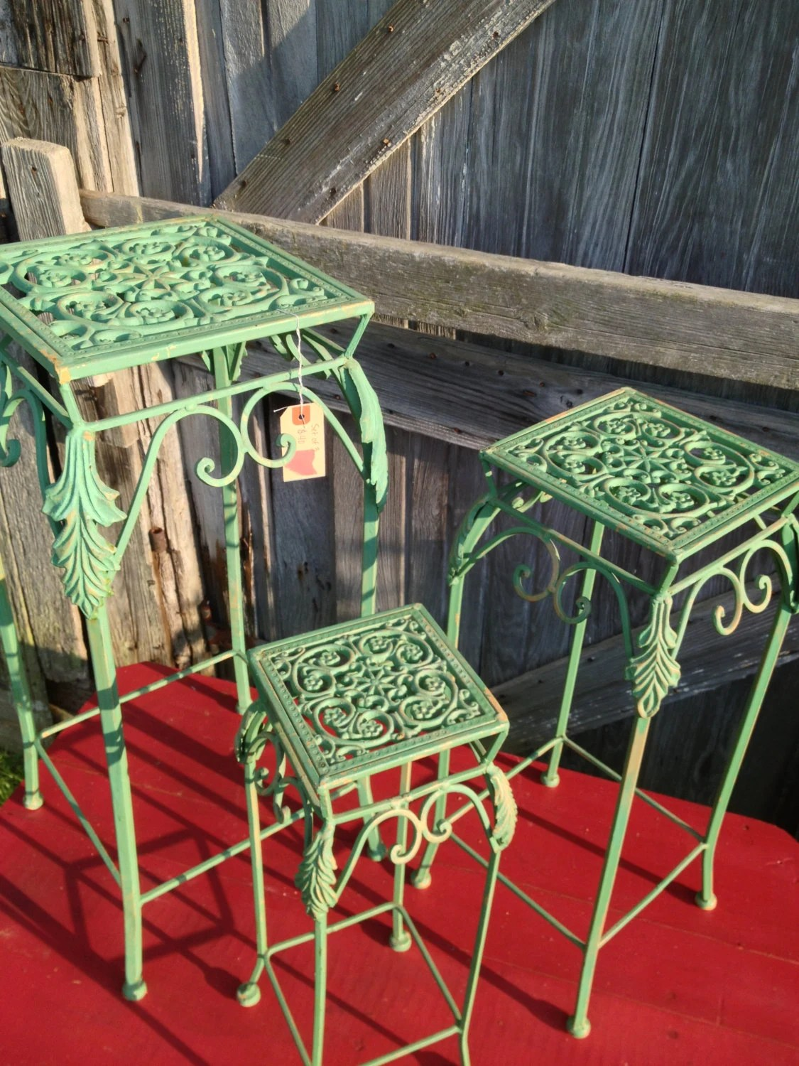 Green Metal Plant Stand Metal Green Stackable Plant Stands