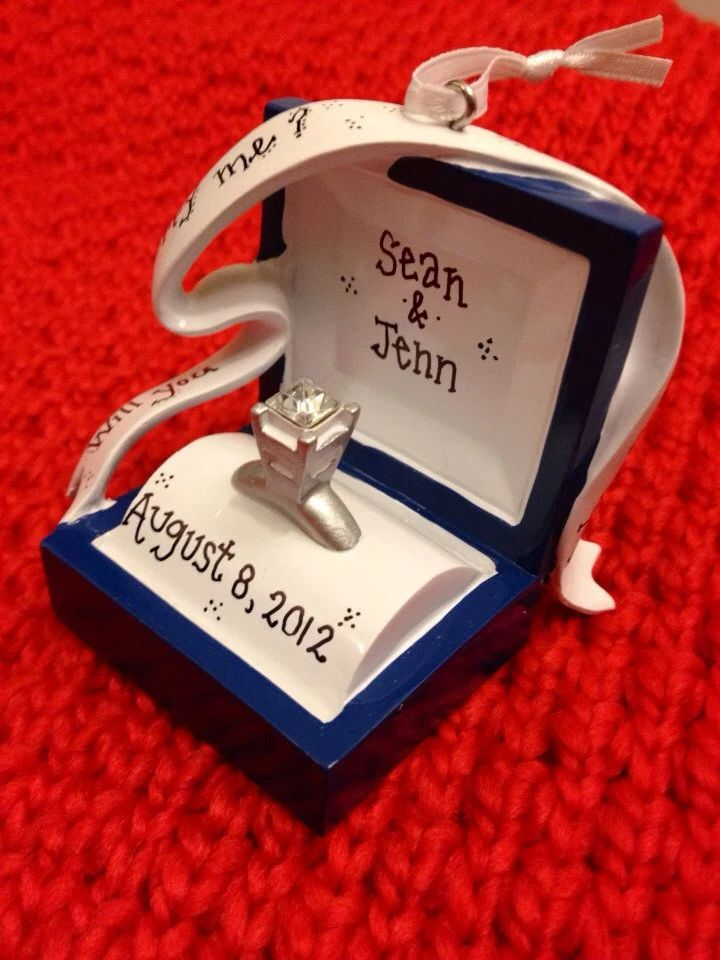 engagement ring ornaments christmas