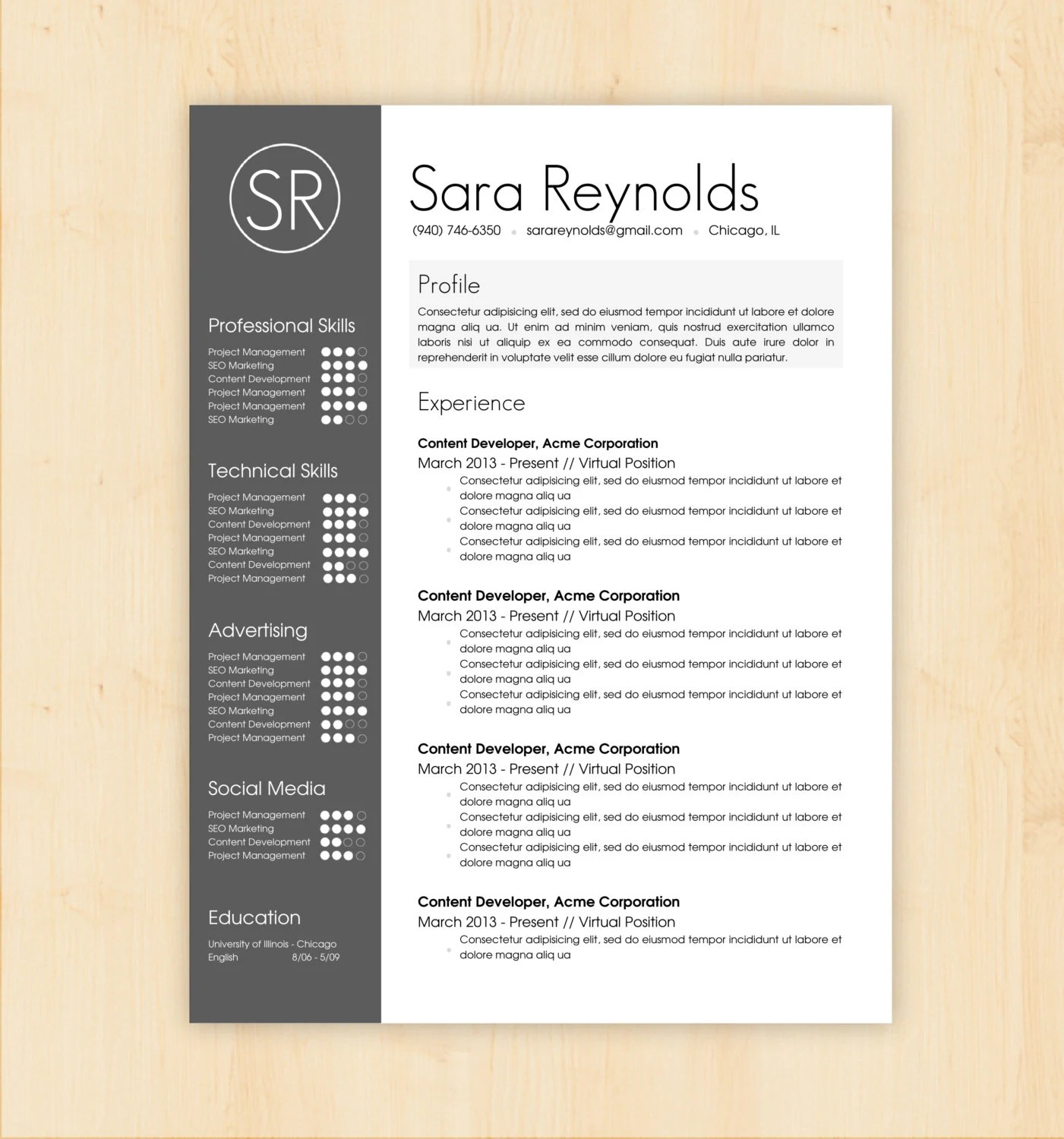 Free Download Cv Template Word Resume Template Mac Word Cv Builder