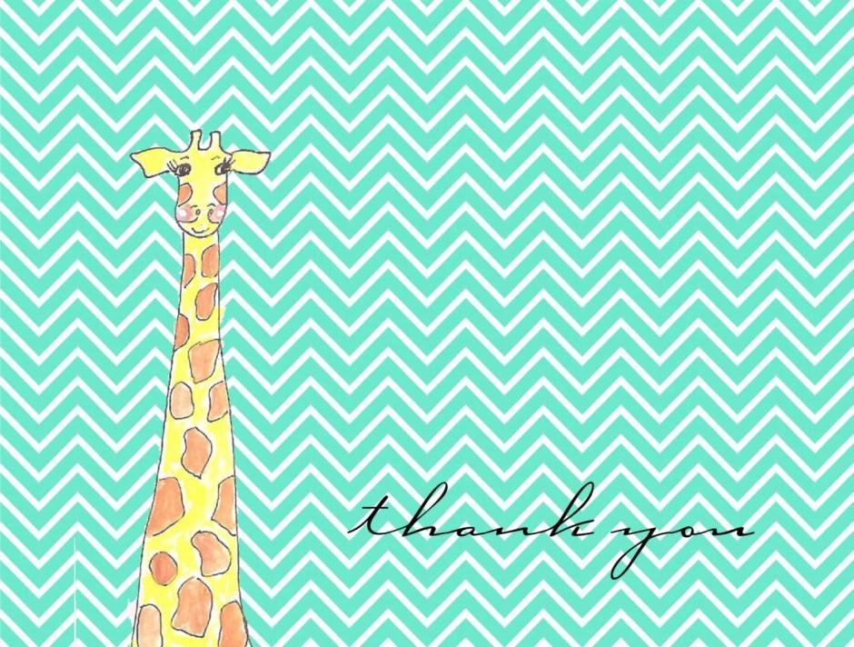 Chevron giraffe thank you...