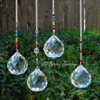 Large Rainbow Prism Crystal Suncatcher Window Decoration