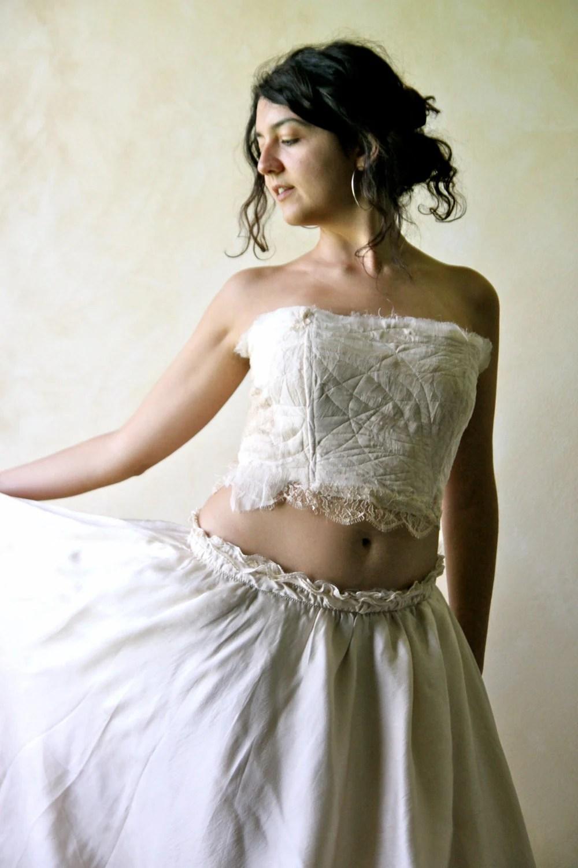wedding crop top boho wedding corset wedding dress corset top zoom