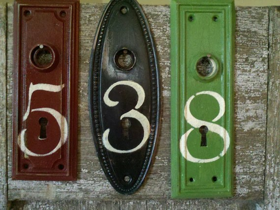 Items similar to Antique Architectural Salvage Door Plate