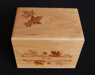 Personalized Recipe Box Custom Recipe Box Wood Recipe Box