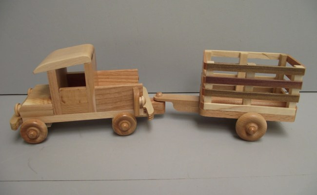 Eco Friendly Wooden Toy Truck With Trailer For By