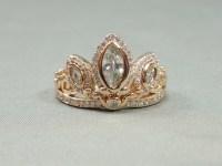Rapunzel Rose Gold Tiara Princess Ring Tangled Crown Crystals