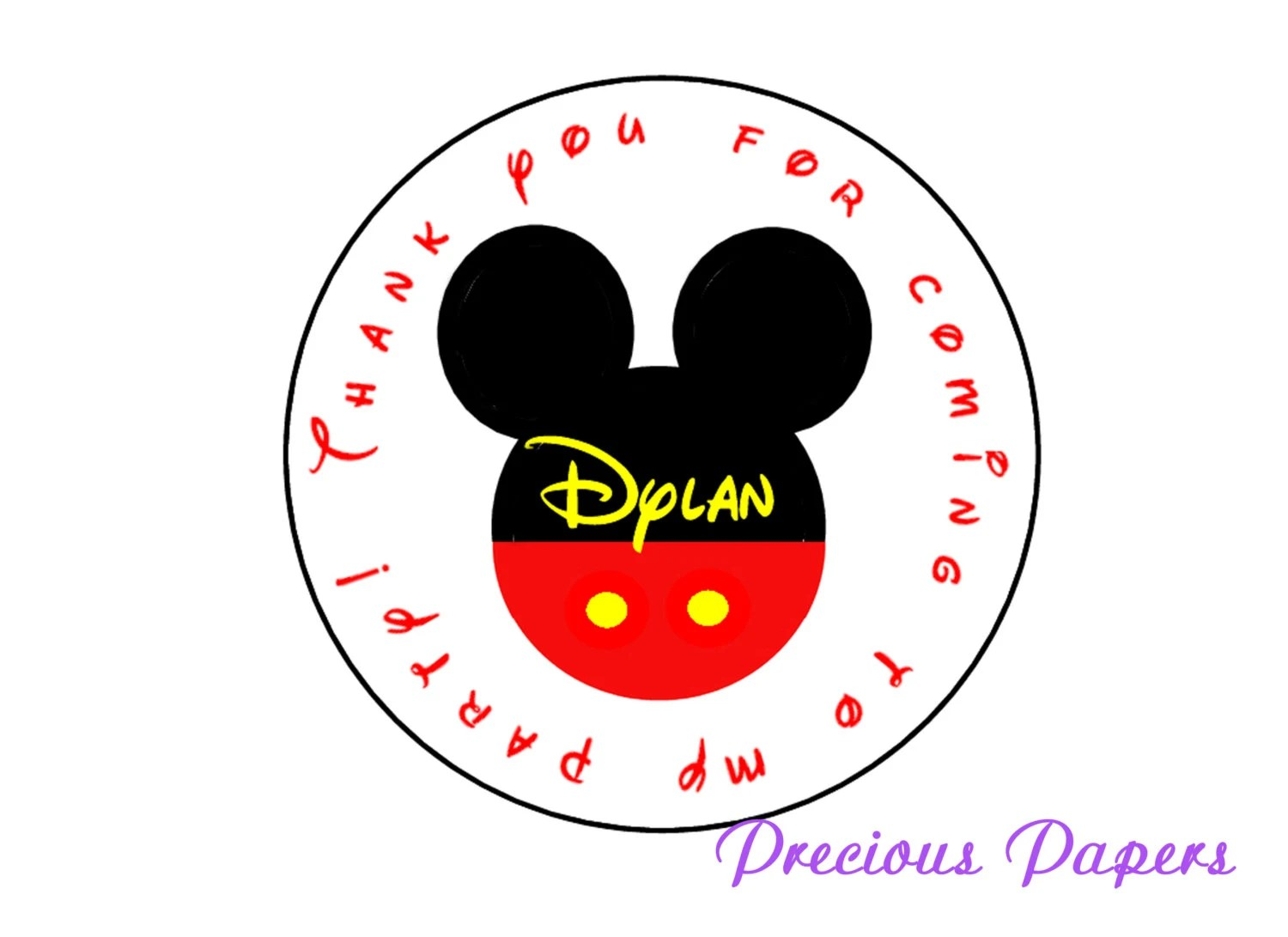 Personalized Mickey Mouse Printable Stickers \u2013 Best Cars 2018