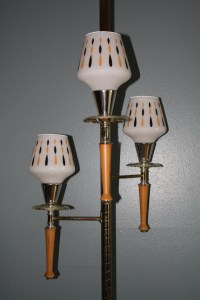 Retro Vintage Floor To Ceiling Tension Pole LAMP 3 Way Pole
