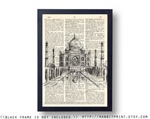Taj Mahal Wallpaper Girl Hand Unique Vintage Travel Decal Related Items Etsy