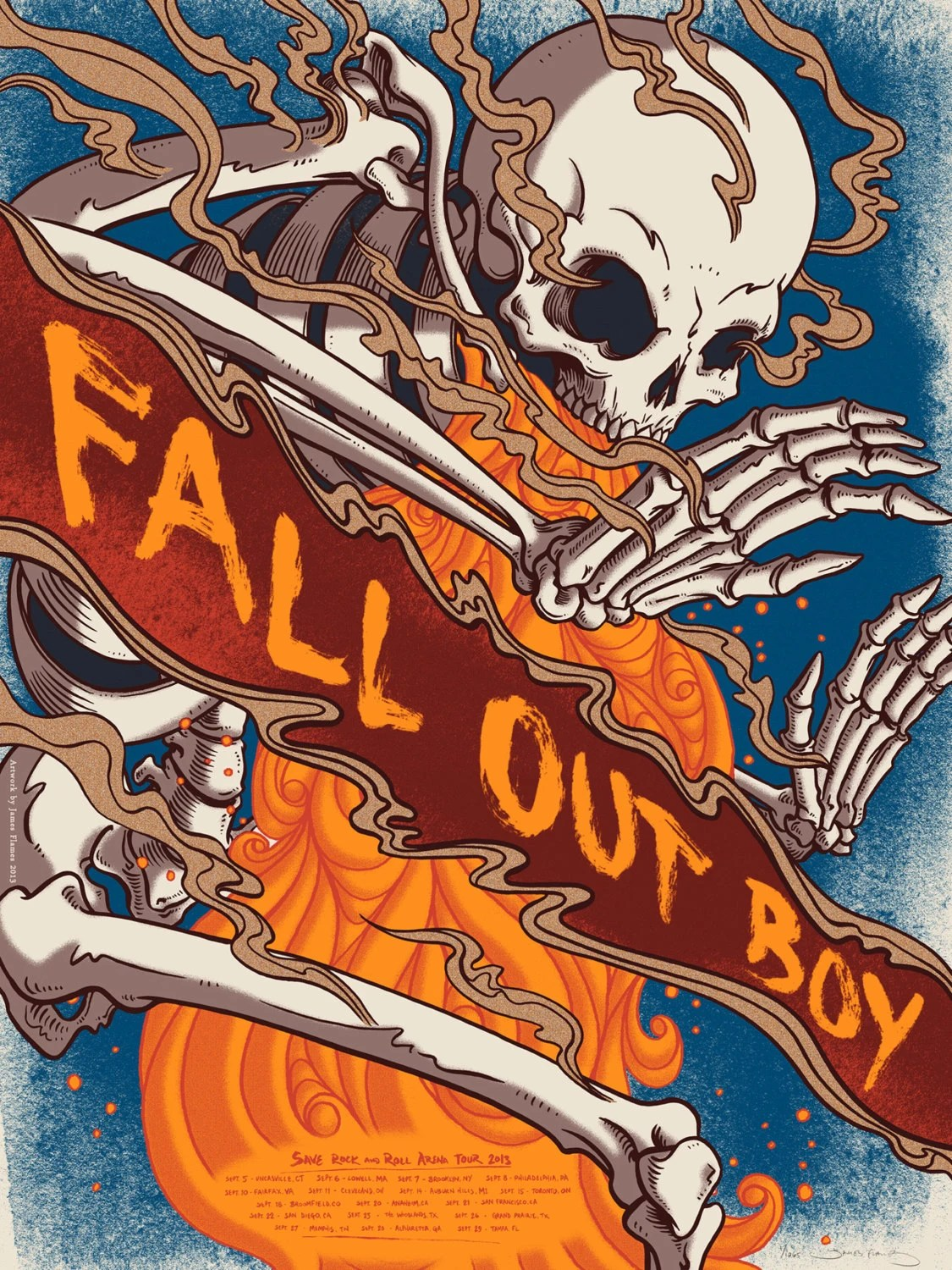 Fall Out Boy Album Wallpaper Fall Out Boy Official Limited Edition Screen Printed Poster