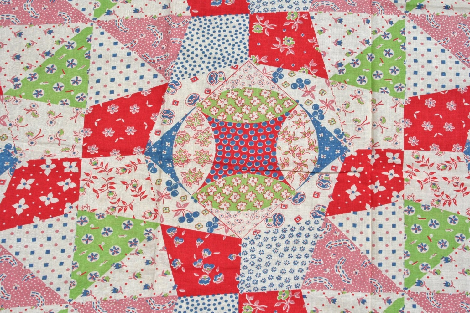Flour Sack Fabric By The Yard Vintage Feedsack Flour Sack Fabric Patchwork Quilt Novelty