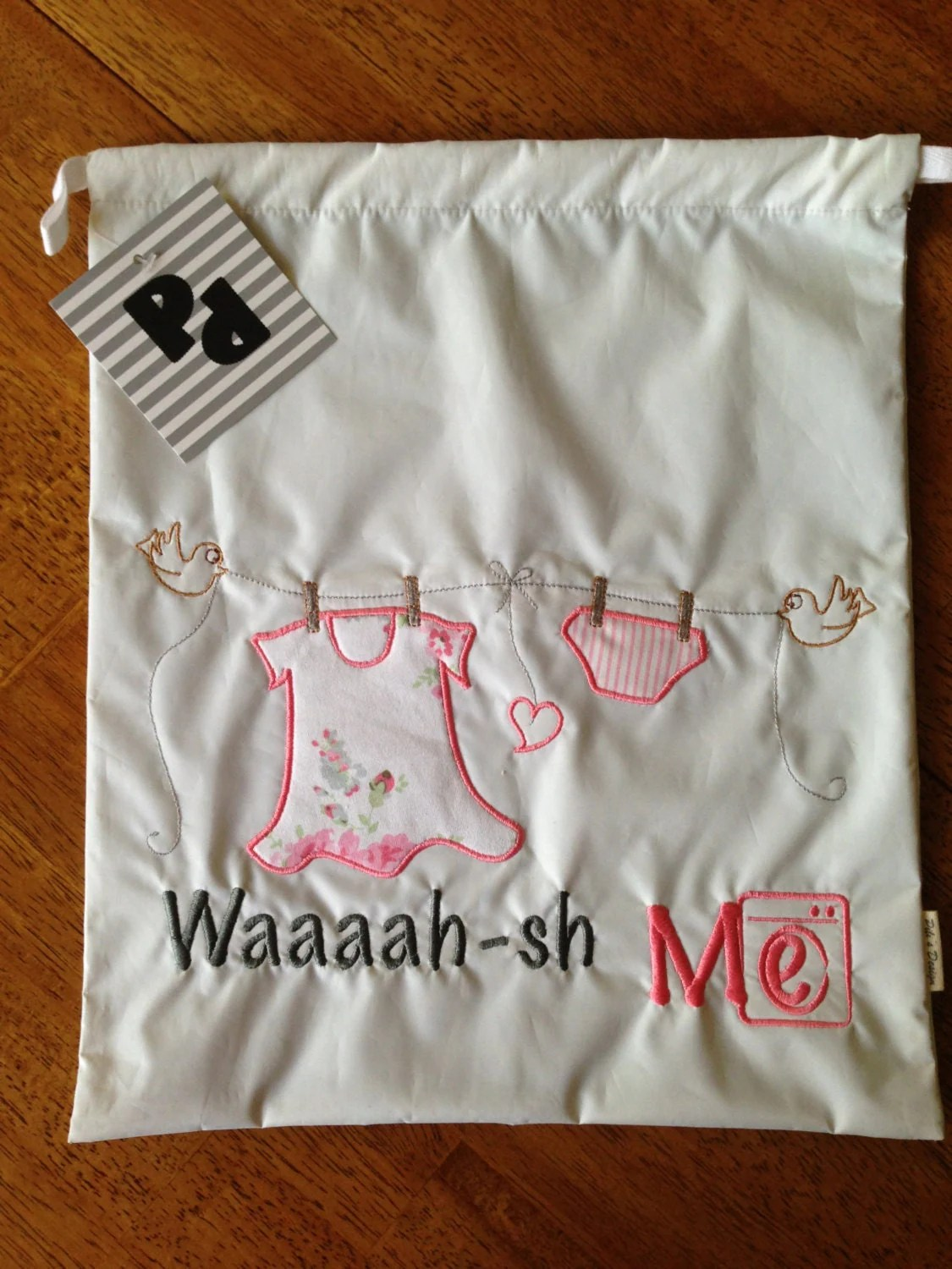 Laundry Bag For Baby Clothes Baby 39s Clothes Bag White Non Toxic Plastic And Pink