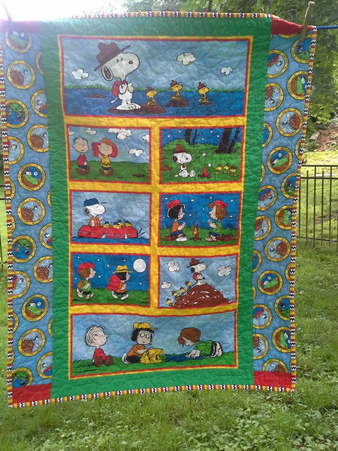 Baby Quilts Handmade Snoopy Crib Quilt Snoopy Nursery Bedding Woodstock By