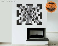 Optical Illusion Squares Wall Decal - Modern Art Vinyl ...