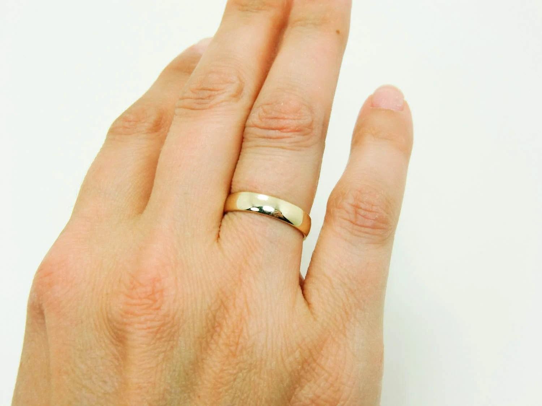 1mm wedding band wedding bands gold 14 Karat Gold Ring Pure 14K Gold Wedding Band Real 14K Gold Half Round Ring mm Mens Gold Wedding Band Womens Gold Wedding Ring