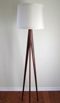 Floor Lamp Tripod Black Walnut by WaldenWoodDesigns on Etsy