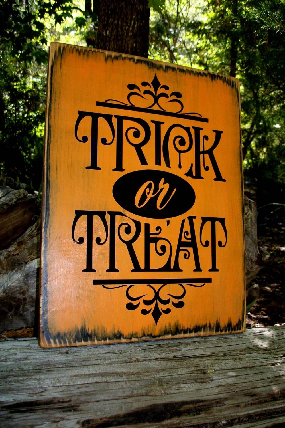Fall Graveyard Cemetery Wallpaper Wooden Halloween Sign Painted Sign Trick Or Treat Autumn