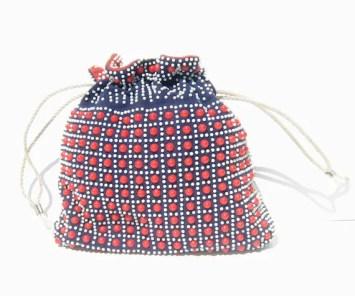 1940s beaded purse - Corde'-Bead bag - 1940s purse - reversible drawstring handbag - 1940s beaded purse - 1940s vintage handbag