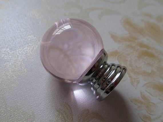 Pink Glass Knobs Crystal Dresser Drawer Knobs Pulls